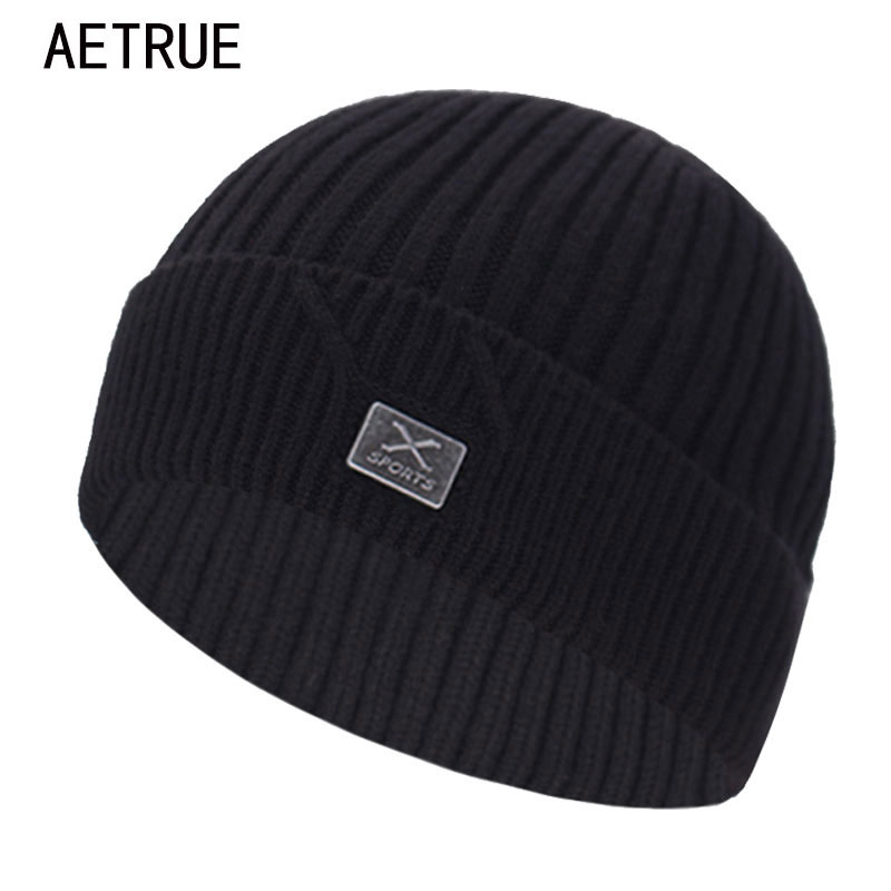 Brand Winter Knitted Hat Skullies Beanies Men Winter Hats For Men Cap Bonnet Mask Warm Male Solid X Women Winter Beanie Hat Cap