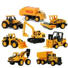 8 Styles Mini Engineering Car Tractor Toy Dump Truck Model Classic Toy Alloy Car Children Toys Engineering Vehicle(China)