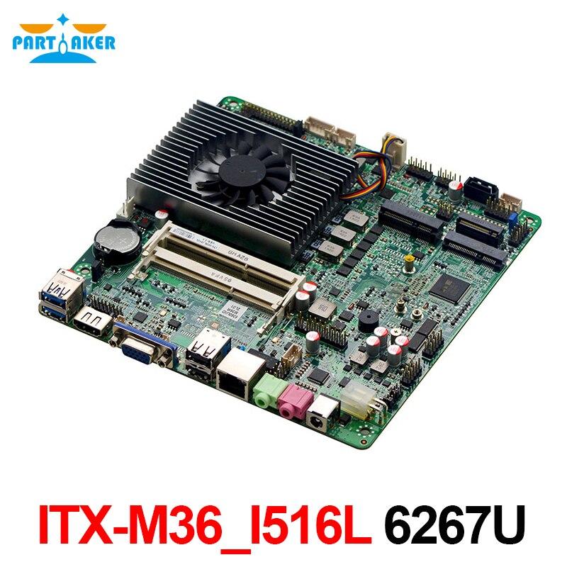 Partaker ITX-M36_I516L I5 6267U 6*COM Skylake Thin ITX X86 Industrial Motherboard With TPM