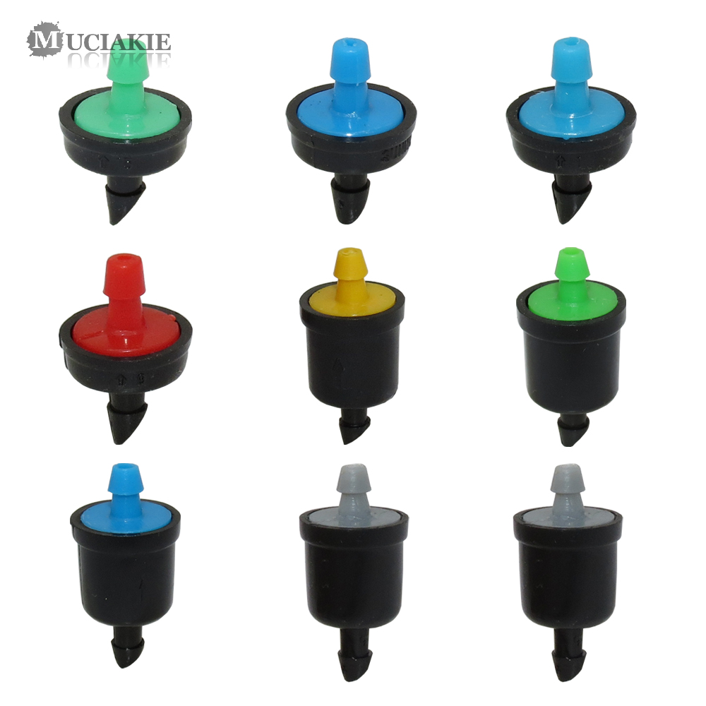 MUCIAKIE 4/6/8/10/20/30/40/50/60L Mini Pressure Compensating Drip Emitter Self-cleaning Durable Garden Irrigation Fixed Flow