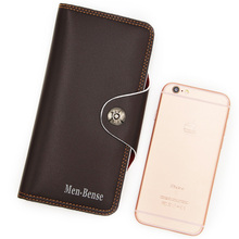 Mens wallet with zipper leather of good quality, black and brown as the main high-end atmosphere, easy to carry