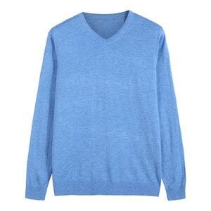 Image 5 - 14 צבע 2020 סתיו חדש גברים סרוג סוודר קשמיר סוודר מזדמן עסקים V צווארון דק Slim fit סוודרים מותג בגדים