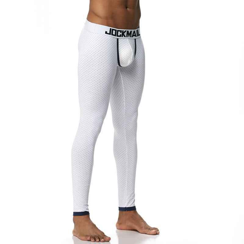 Calzoncillos Masculinos Leggings Largos de Johns para Hombre Pijamas transl/úcidos de Seda de Hielo con Fondo para Dormir Pantalones t/érmicos Ajustados para sal/ón