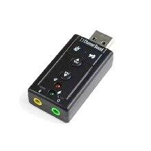 Производители питания моделирование 7,1 Звуковая дорожка динамический звук extrapisition USB звуковая карта Микрофон вход бытовой USB звук