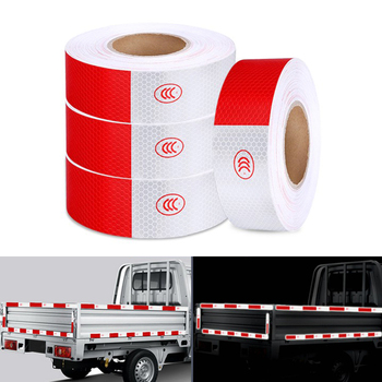 50mm width Safety Reflective Strip Sticker Car-Styling Self Adhesive Warning Tape Automobile Motorcycle Film 1cm 8m lattice reflective tape sticker car styling vehicle truck motorcycle bicycle fence safety warning strip diy decal