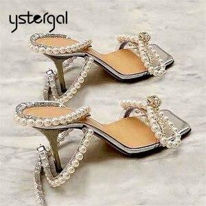 Ystergal śliczne kobiety letnie klapki gruszka Decor wysokie obcasy buty ślubne buty kobieta Bowknot sandały gladiatorki Sexy kobiety pompy