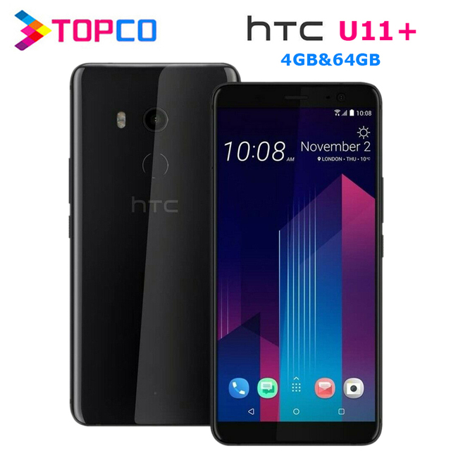 "HTC U11+ U11 Plus 64GB Original Unlocked GSM 3G&4G Android Mobile Phone Octa Core 6.0"" 12MP&8MP 4GB RAM 64GB ROM Fingerprint NFC 1"