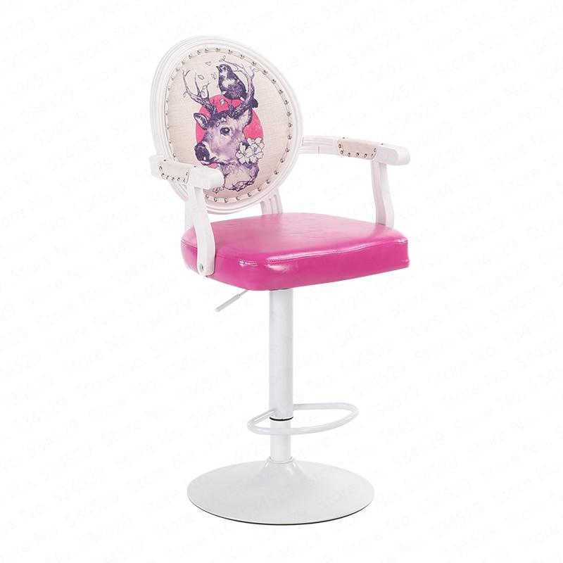 B European Bar Stool Chair Modern Minimalist Rotating Bar Chair High Stool Cash Register Chair Back Stool Home