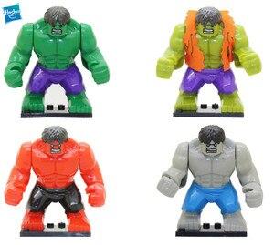7cm 4pcs superhero Hulk Robert Bruce Banner series assembly DIY Puzzle Children's Hulk block doll Building Construction Toys(China)