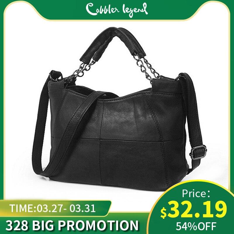 Cobbler Legend Genuine Leather Women Handbags 2019 Brand Bucket Bag Top-handle Famous Designer Totes Soft Shoulder CrossBody Bag