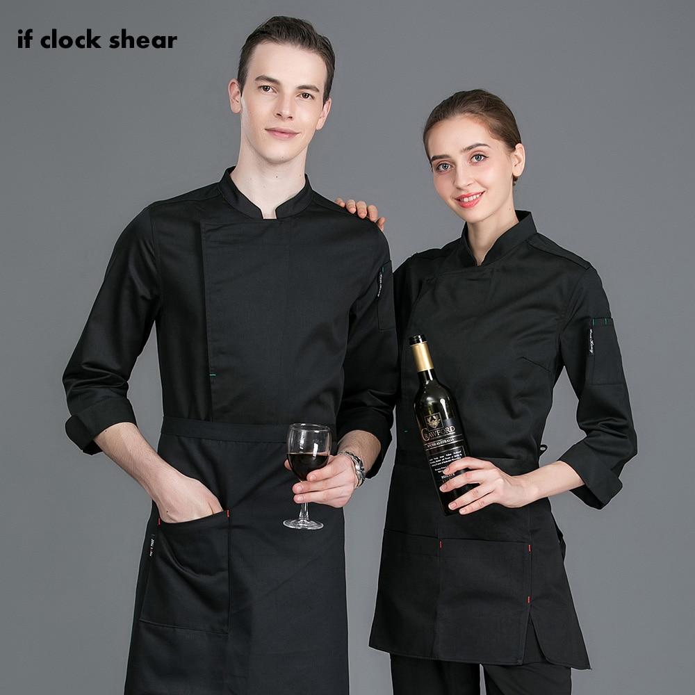 M-3XL High Quality Hotel Kitchen Chef Shirt 4 Colors Restaurant Uniforms Unisex Catering Chef Workwear Men Cooker Jackets Women