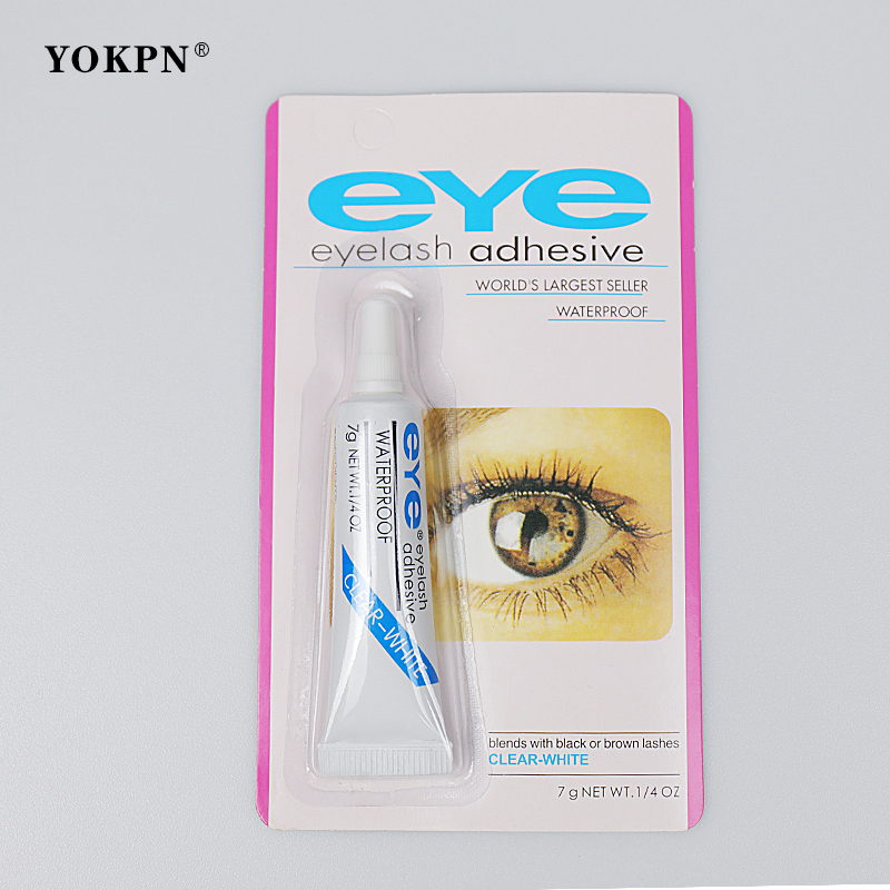 YOKPN 1PC Practical Eyelash Glue Clear-white/Dark-black Waterproof False Eyelashes Makeup Adhesive EyeLash Glue Cosmetic Tools