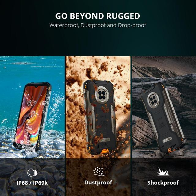 DOOGEE S96 Pro 8GB+128GB Rugged Phone 48MP Camera 20MP Infrared Night Vision Smartphone Helio G90 6350mAh Waterproof Octa Core 6