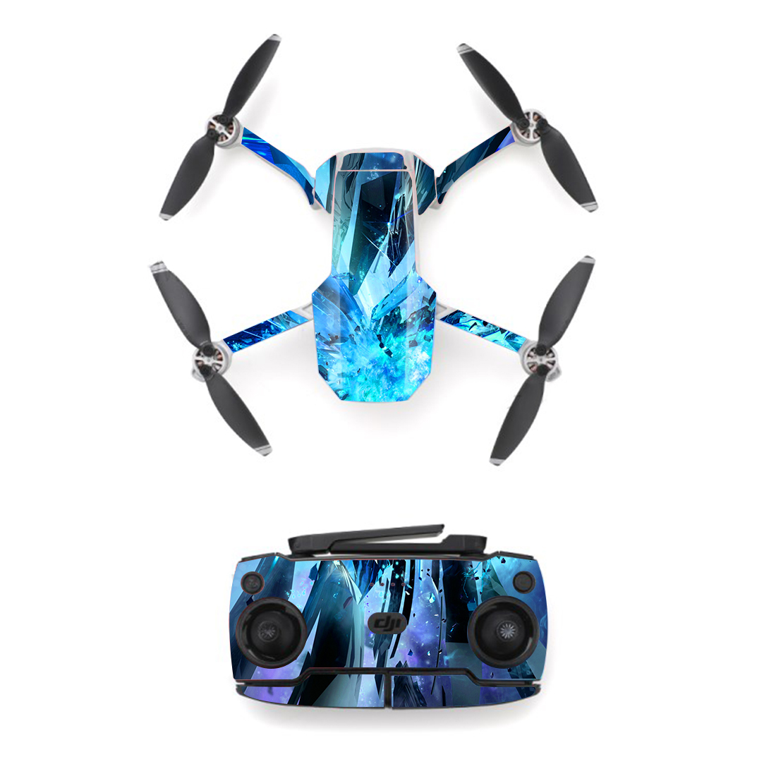 Blue Ice Style Skin Sticker For DJI Mavic Mini Drone And Remote Controller Decal Vinyl Skins Cover M0092