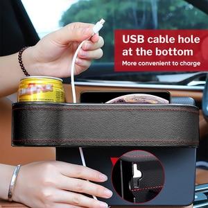Image 3 - Deelife Car Seat Gap Organizer Slit Pocket PU Case Storage Box Cup Drink Holder Auto Seat Side Organizer