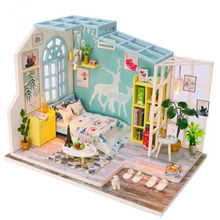 Doll House Diy Miniature Dollhouse Model Wooden Toy Furnitures Casa De Boneca Dolls Houses Birthday Gift
