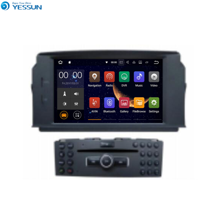YESSUN Android <font><b>Radio</b></font> Car DVD Player For Benz C-Class <font><b>W204</b></font> stereo <font><b>radio</b></font> multimedia <font><b>GPS</b></font> navigation with WIFI Bluetooth AM/FM image