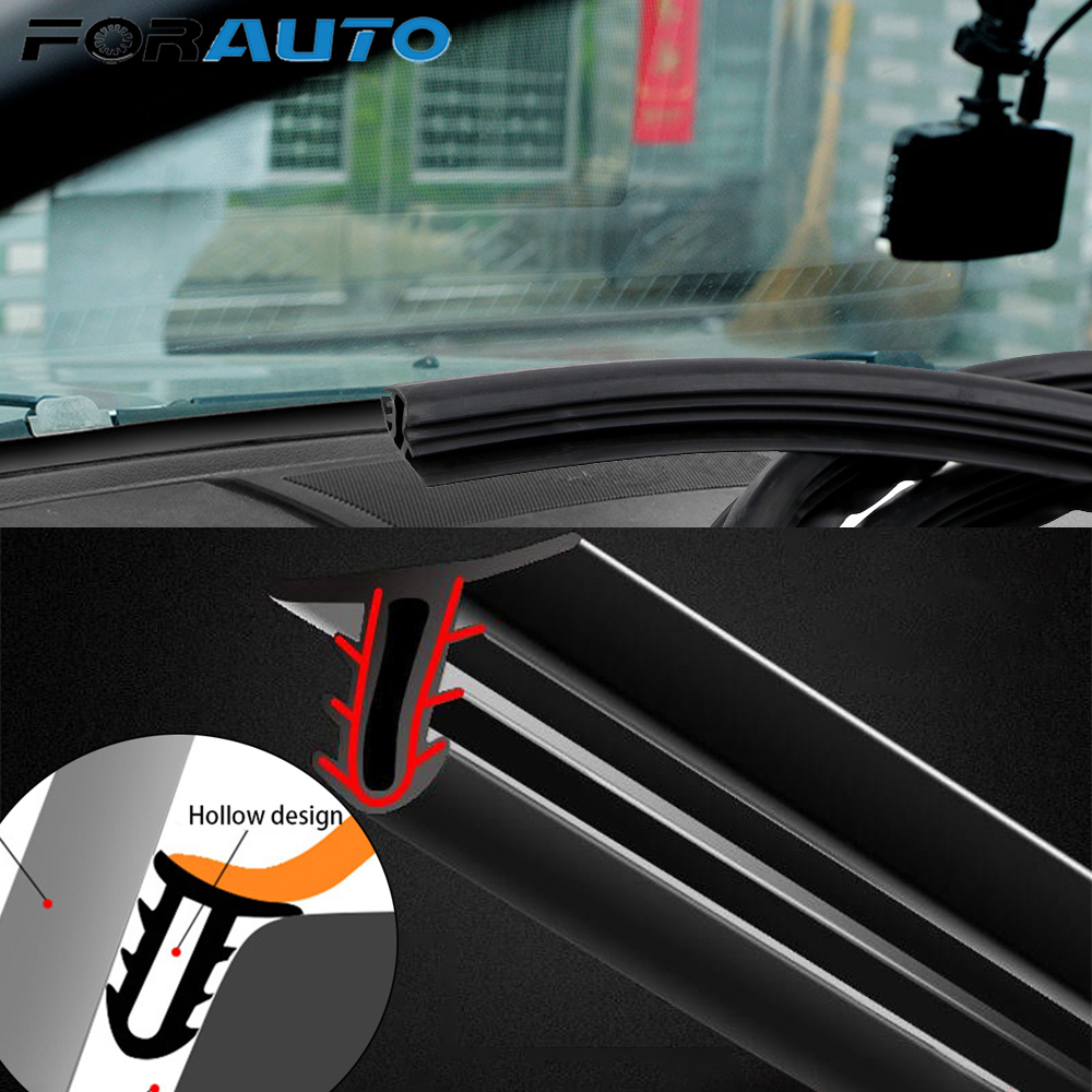 Car Stickers Dashboard Sealing Strips Noise Sound Insulation Rubber Strip Universal For Weatherstrip Auto Interior Accessories