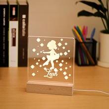 Пользовательские милые девушки Деревянный 3d акриловый ночной
