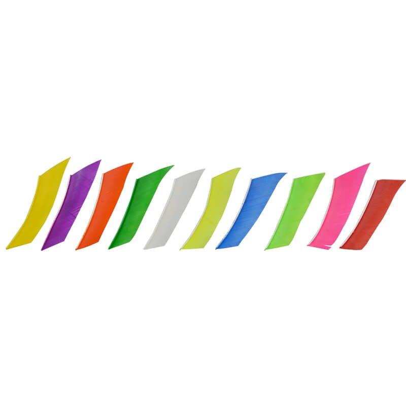50 個 3 インチアーチェリー左翼リアル七面鳥の羽ガラス繊維竹木の矢狩猟や射撃アクセサリー