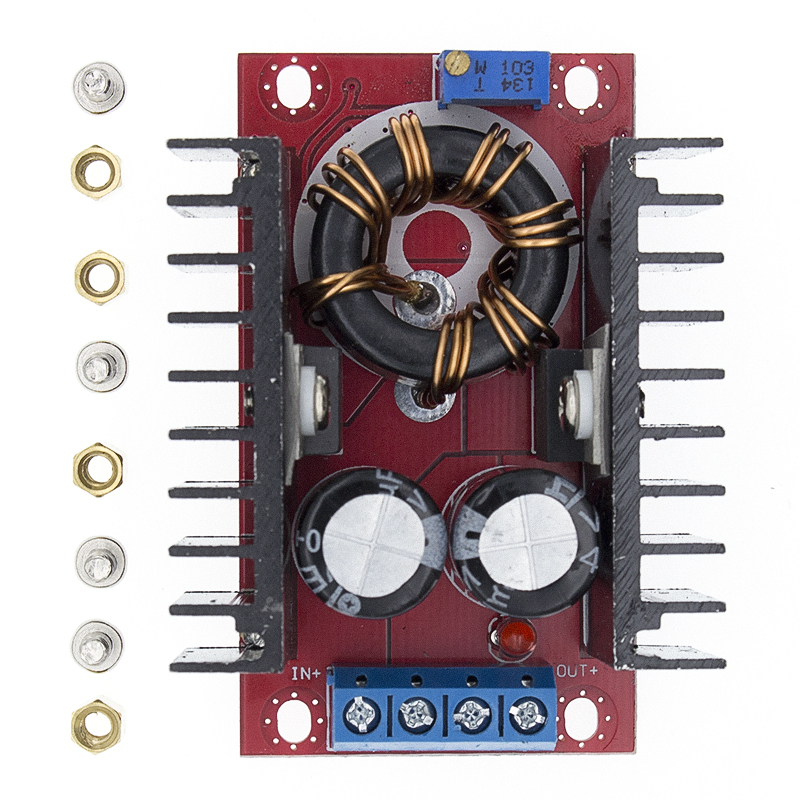 150W Boost Converter DC to DC <font><b>10</b></font>-32V to <font><b>12</b></font>-35V Step Up Voltage Charger Module Power Supply Driver Charger Adjustable image