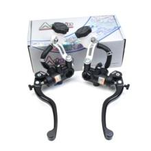Adelin – levier de frein et d'embrayage avec maître cylindre, universel, 14mm, 15mm, pour moto Honda R6, Fz6, Gsxr600, Z800, Yamaha