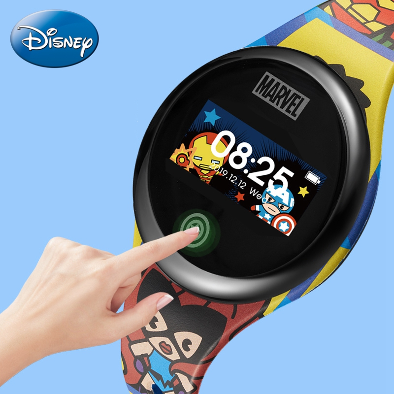 2020 Disney Smart Band Child Alarm Step Distance Waterproof Sport Kid Silicone Smartband Children Electronic Smartwatch Healthy