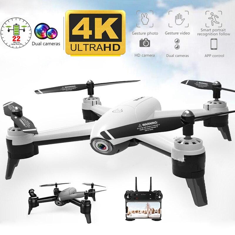 SG106 WiFi FPV RC Drones 4K double caméra RC hélicoptère 1080P HD caméra quadrirotor avion Quadrocopter aérien vidéo jouets pour enfant
