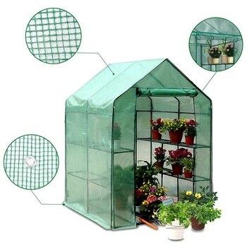 Twee Verdiepingen Groen Huishouden Plant Kas Mini Tuin Warme Kamer PVC Tuin Warme Kamer 143x73x195cm