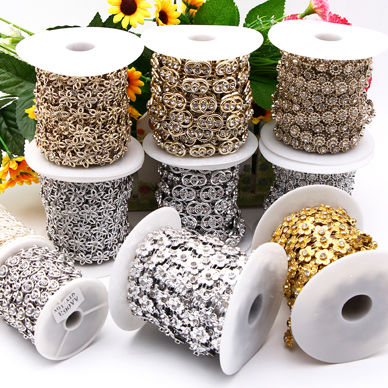 10m Pearl Bead Lace Trim Mesh Ribbon for Garment Decoration DIY Wedding Supply