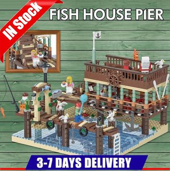 UG 30101 IN Stock  Old Fishing House Pier Compatible IDEA 16050 21310 Building Bricks Educational Toy Child Birthday Gifts