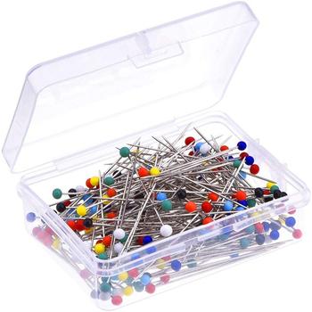 MIUSIE 100 50Pcs ślubne krawiectwo szpilki naprawiono stanik kwiaciarnie ręcznie akcesoria do szycia szpilka do szycia krawiectwo głowy szpilki tanie i dobre opinie CN (pochodzenie) Tak ( 50 sztuk) Proste Szpilki Plastic Metal MU0915-MU0920 Sewing pins with head Sewing pins box Sewing pins pearl
