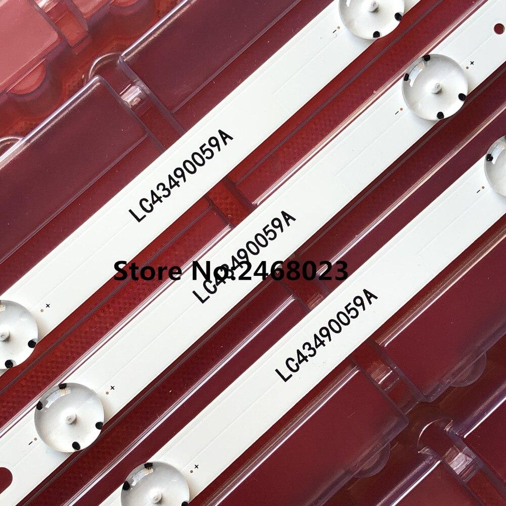 Nouveau 3 pièces 7LED 83cm LED bande pour LG 43UK6300PLB 43UJ634V 43LJ61_FHD_L LC43490059A LC43490058A Innotek 17Y 43inch_A LC43490074A