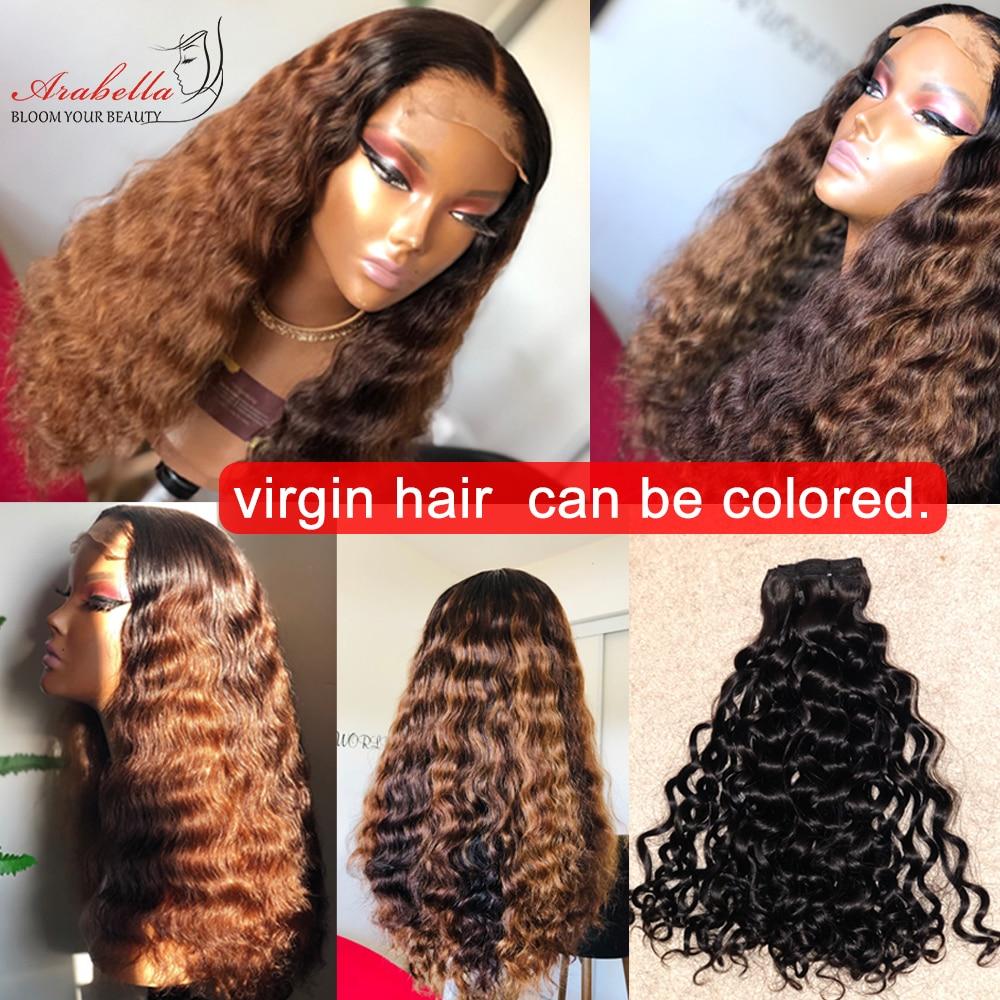 Arabella Supper Double Drawn Deep Wave Hair Bundles With Lace Closure 100%   Bundles Virgin Hair  6