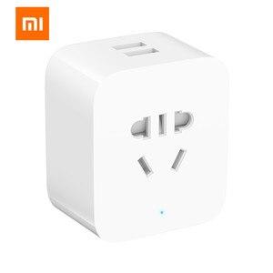 Image 3 - Xiaomi MIJIA podwójny USB inteligentny bluetooth brama inteligentne gniazdo wifi praca xiaomi inteligentny dom
