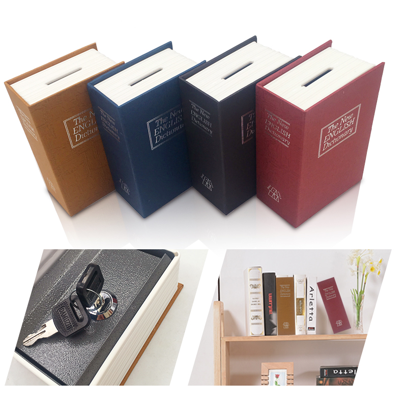 Dictionary Safe Box Book Money Hidden Secret Security Safe Lock Cash Money Coin Storage Jewellery key Locker For Kid Gift