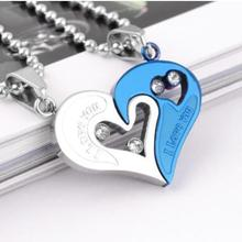 One-price Wholesale of Titanium Steel Necklace and Peach Heart-shaped Pendant