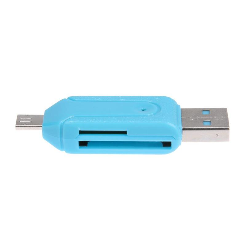 Mini TF/SD Card Reader With USB/Micro USB Port OTG Function For Smart Phone