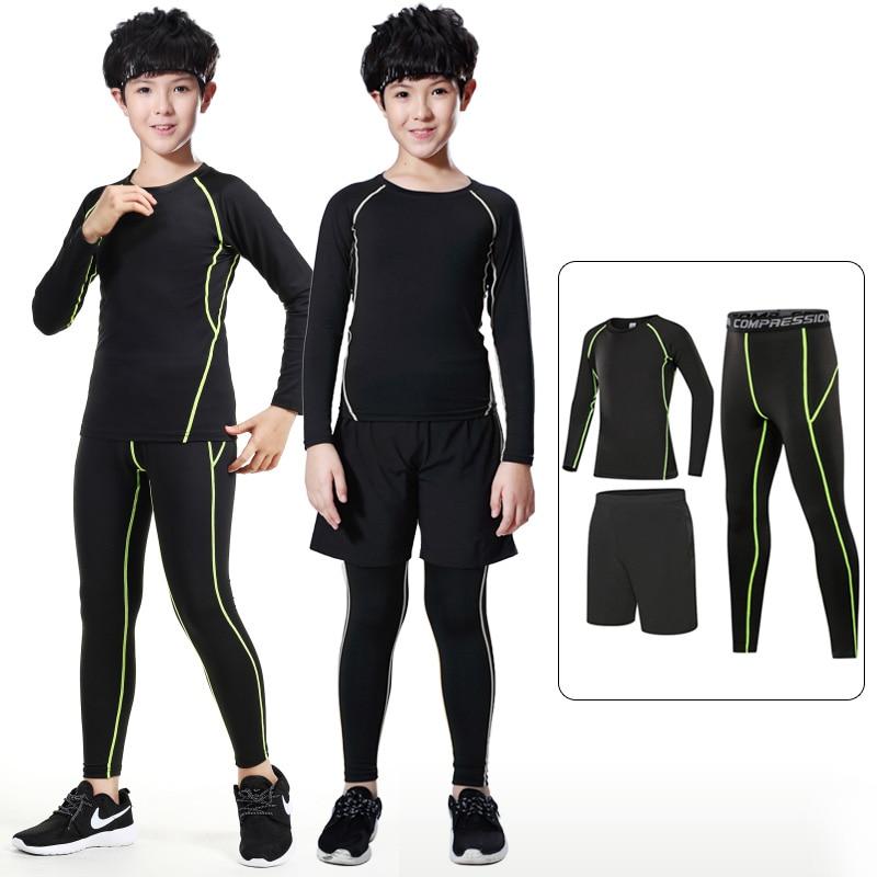 Детская компрессионная одежда для бега, детский спортивный костюм, нижнее белье для бега, спортивная одежда для баскетбола, тренировочный к...