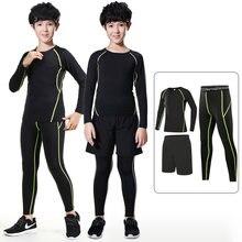 Crianças correndo roupas de compressão terno dos esportes dos miúdos correndo roupas íntimas de basquete meninos terno de pista de futebol esportes boxe