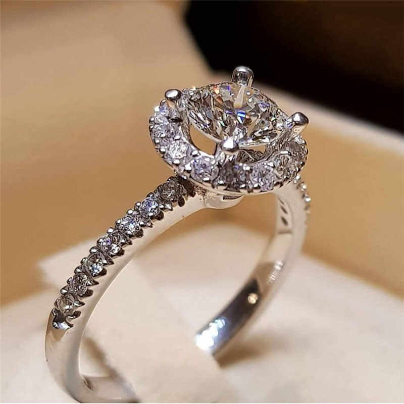 Inlaid Rhinestone Ring Creative Design Fashion Jewelry Female Wedding Ring Drop Shipping