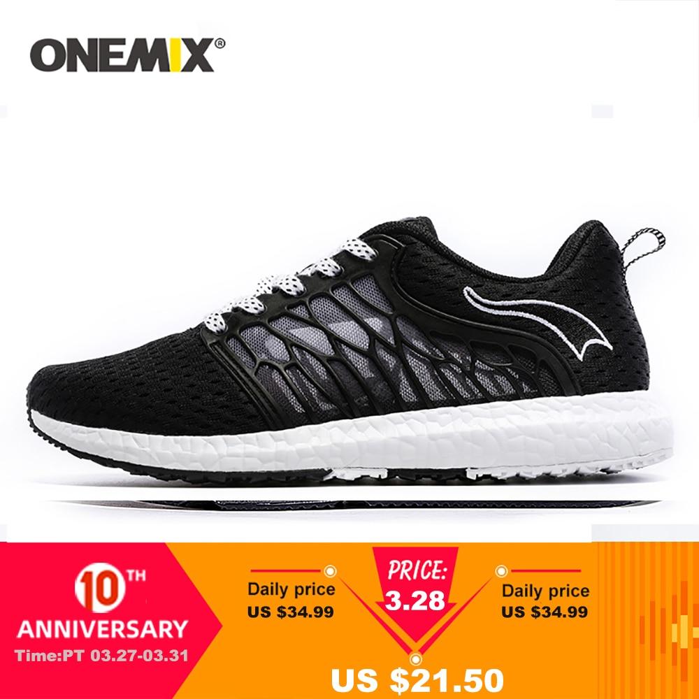 ONEMIX Uni Running Shoes Breathable Mesh Men Athletic Shoes Super Light Outdoor Women Sports Shoes Walking Jogging Shoes
