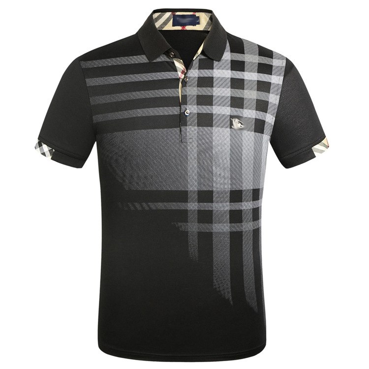 New   Polo   Shirt 2019 Men Short Sleeve Fashion Casual Slim Deer Embroidery Printing Men   Polos   XXXL