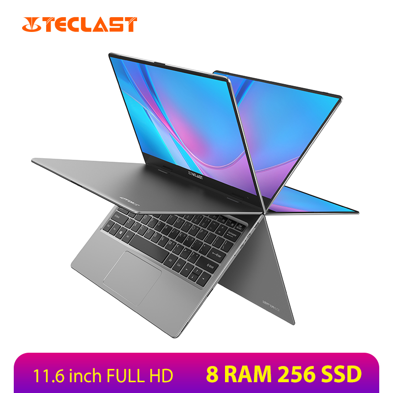 Teclast F5R FHD IPS 11.6 inch Laptop Win 10 Intel Gemini Lake N3450 8GB DDR4 256GB SSD 360 Degree Rotation Touch Screen Notebook image
