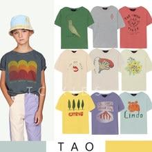 2021ss tao crianças meninas t camisa roupas de moda menino menina dos desenhos animados casuais topos de algodão manga curta camiseta crianças roupas de verão