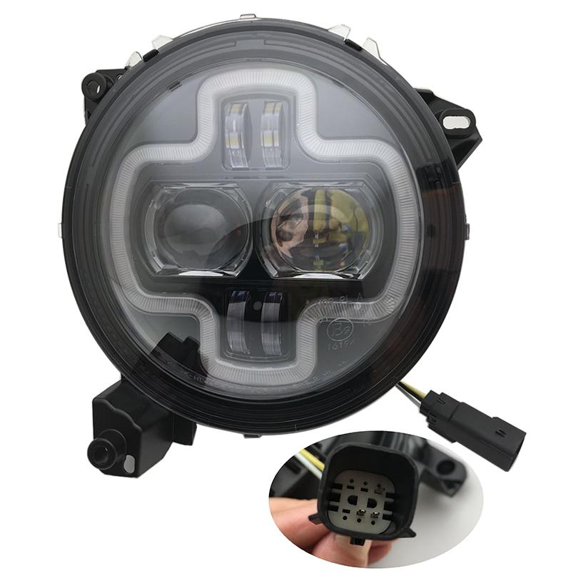 For Jeep wrangler JL 2018 2019 Angle Eye Headlights Projecor with Hi/Low Beam 110w Car Sport Lights - 2