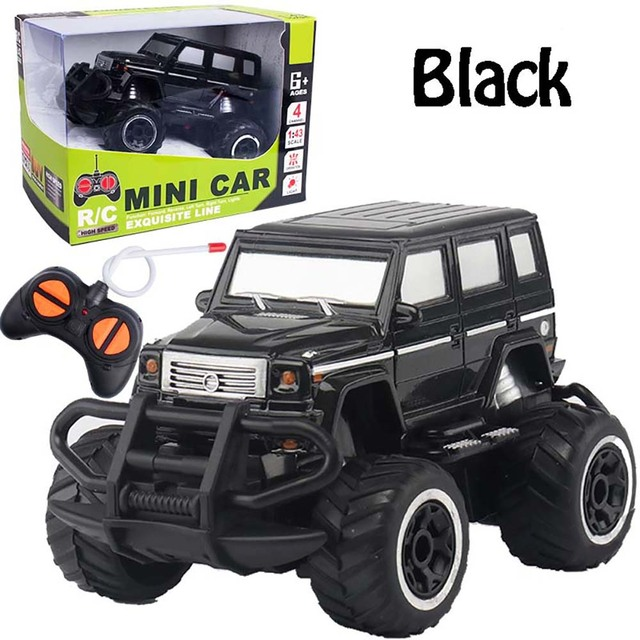 HISTOYE 1:43 Mini Four-way remote control car off-road rc car Crawler Climbing vehicle with Light Buggy Toy Gifts for kids boy