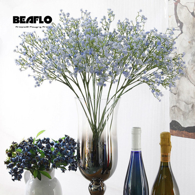 1pc Artificial Baby's Breath Flower Gypsophila Fake Silicone plant for Wedding Home Hotel Party Decoration 5 Colors 3