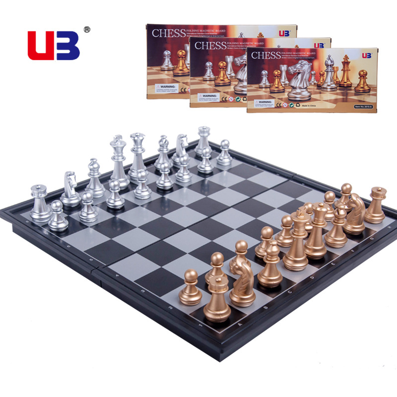Hot selling Magnetic Board Plastic Tournament Chess Set Pieces Kids Gift toy