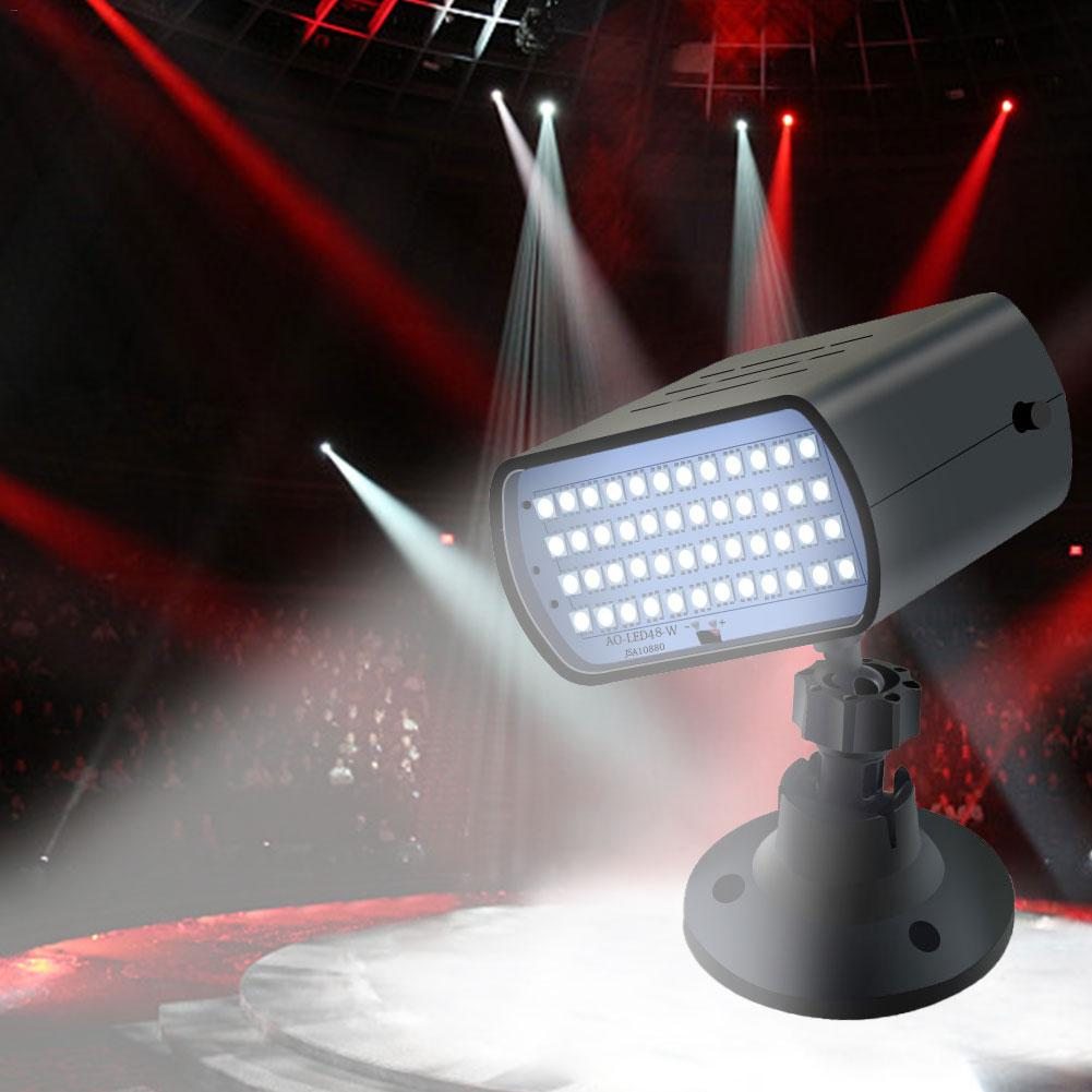 AC110-240V 13W 48LED Stage Strobe Lights Sound Activated Stage Light Effect For KTV Disco DJ Party Holiday Christmas Music Club